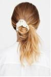 dotted scrunchie silk
