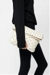 dotted fold clutch