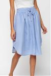 curve skirt chambray