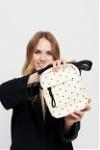 dotted crossbody bag